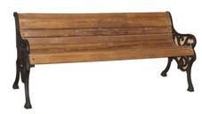 **SOLD** Antique Cast Iron Bench in Teak Wood