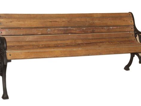 Antique Cast Iron Bench in Teak Wood