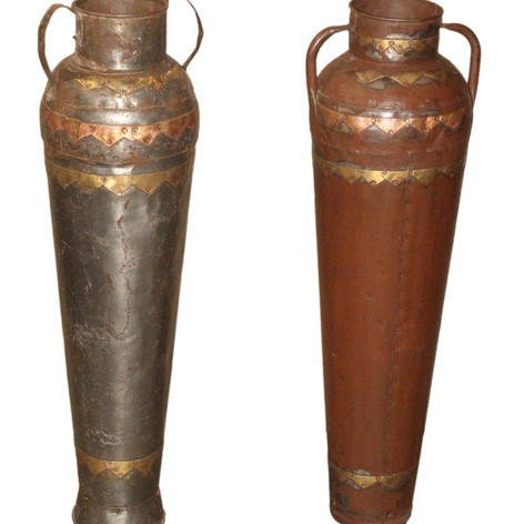 Antique Brass, Iron and Copper Pots
