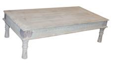 Repurposed Vintage Day Bed Coffee Table in Teak Wood