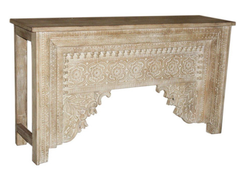 Repurposed Antique Archway Facia Console Table in Teak Wood