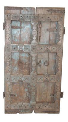 Antique Teak Wood Door Panels