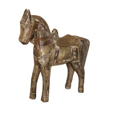 Brass and Wood Horse
