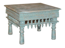 Reclaimed Handcarved Archway Elements Coffee/Side Table in Mango Wood