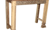 Reclaimed Hand Carved Teak Wood Console Table