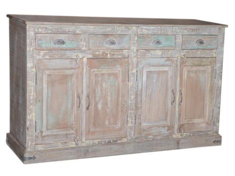 Reclaimed Teak Wood 4 Drawer Sideboard