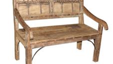 Repurposed Antique Ox Cart Siderails Bench in Teak Wood