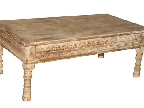 Repurposed Antique Daybed Coffee Table in Teak Wood