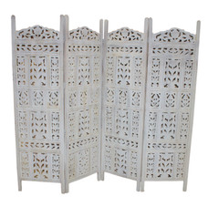 Vintage Hand Crafted 4 Panel Screen