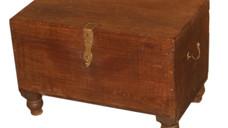 Vintage Teak Wood Chest with Brass