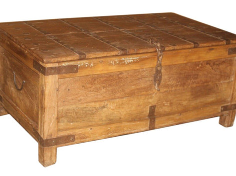 Reclaimed Teak Wood Coffee Table Chest