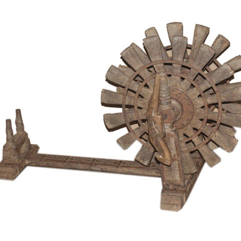 Vintage Charkha Display in Teak Wood