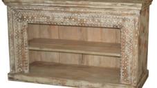 Repurposed Antique Door Frame Open Sideboard in Teak Wood
