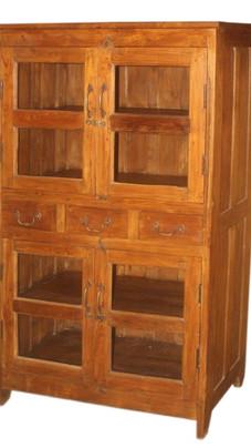Antique Teak Wood Three Drawer Cabinet