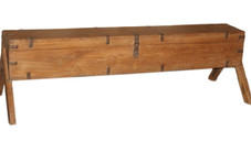 Antique Rifle Box on Stand in Teak Wood