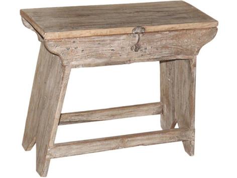 Reclaimed Teak Wood Bench Chest