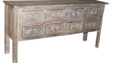 Reclained Teak Wood 8 Drawer Sideboard