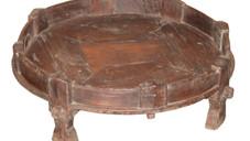 Antique Teak Wood Grinder Table