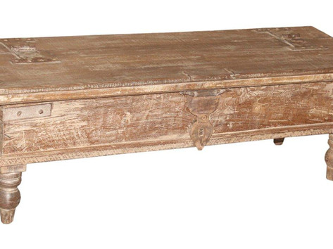 Reclaimed Teak Wood Blanket Box