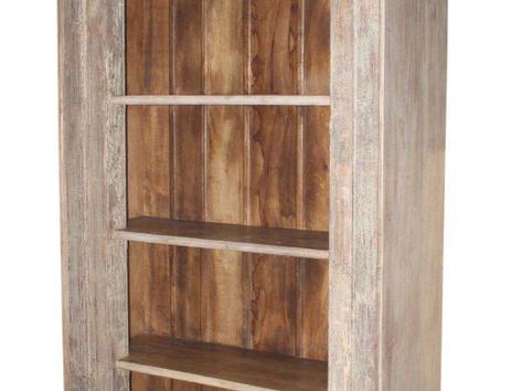 Repurposed Handcarved Antique Door Frame Book Case in Teak Wood