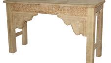 Reclaimed Antique Door Frame Elements Console Table in Teak Wood