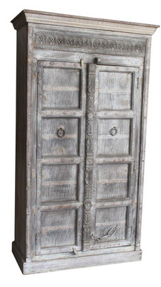 Repurposed Antique Teak Doors Armoire