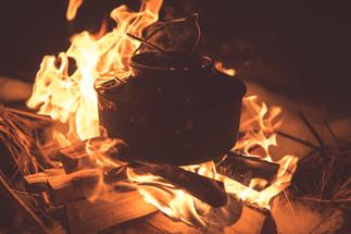 Coffee on the bonfire