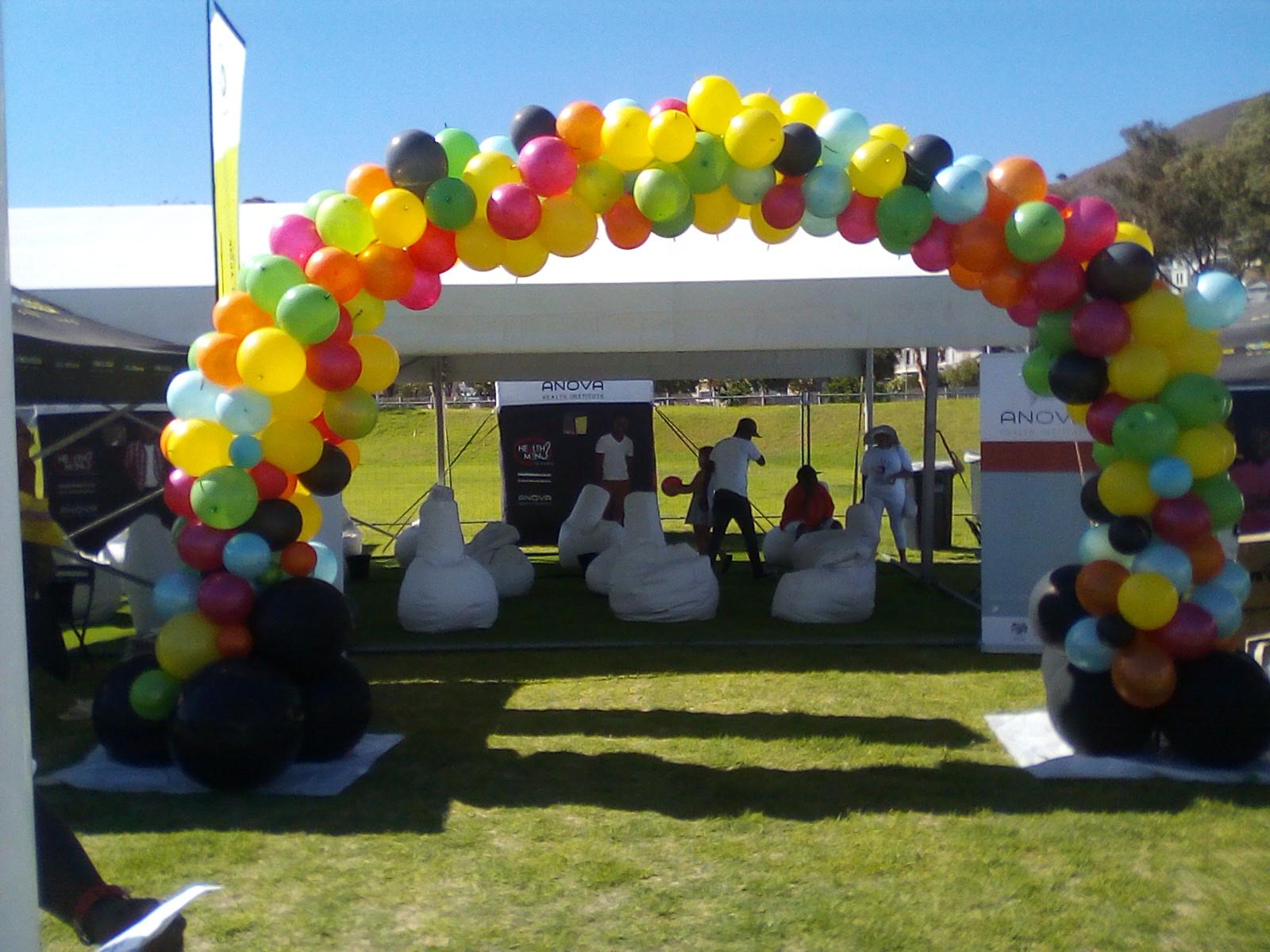 Organic Multi-color Balloon Arch