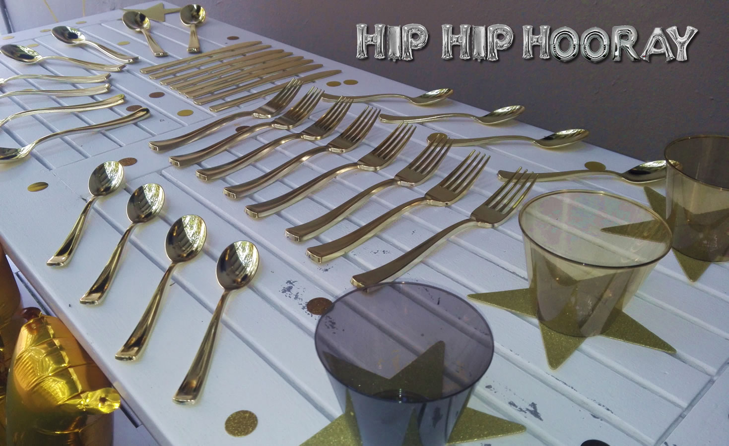 Gold Table Settings