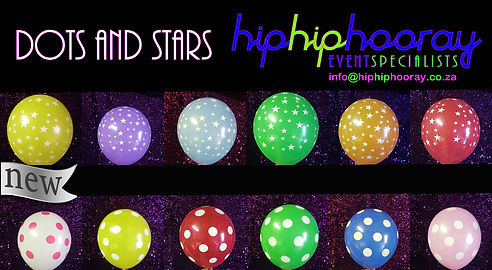 Dots and Stars Latex Balloons