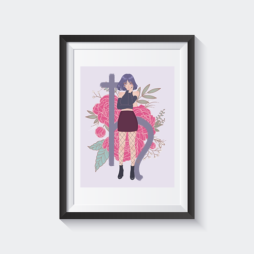 Sailor Saturn Holographic Print