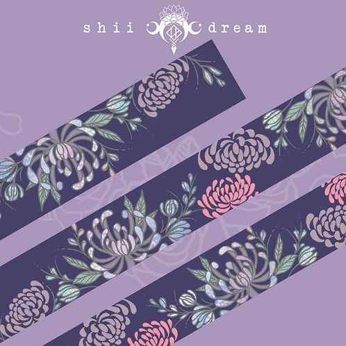 Purple Chrysanthemum Washi Tape