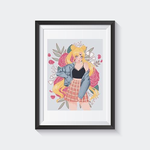 Sailor Moon Holographic Print