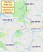 Gas Transmission Pipelines in Lafayette_