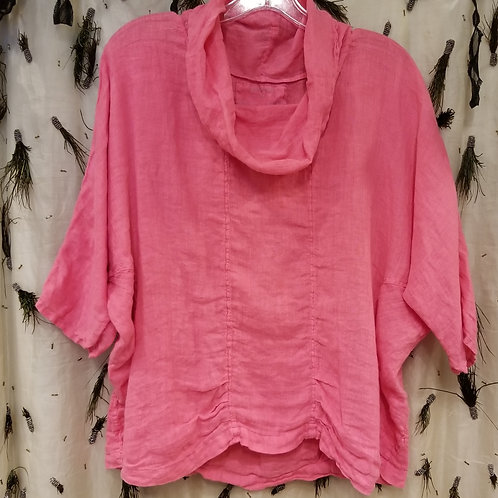 Pink Gauze Cowl Top