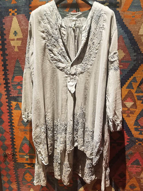 French Embroidered Classic Shirt