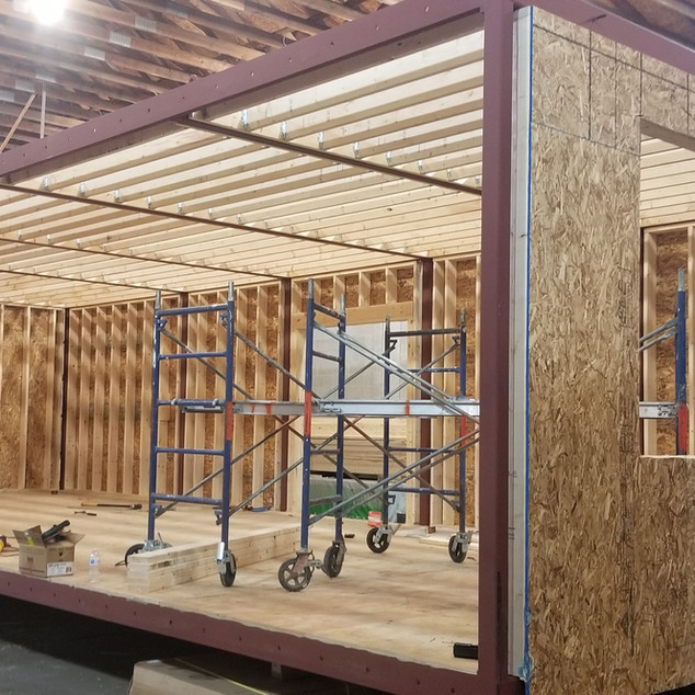At 24 feet wide, this home will ship in two modules.