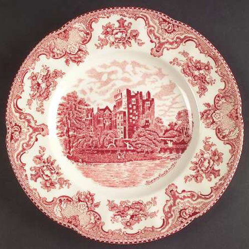 Cranberry Churchill China Plates