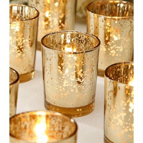Gold Mercury Votive Candle Holder