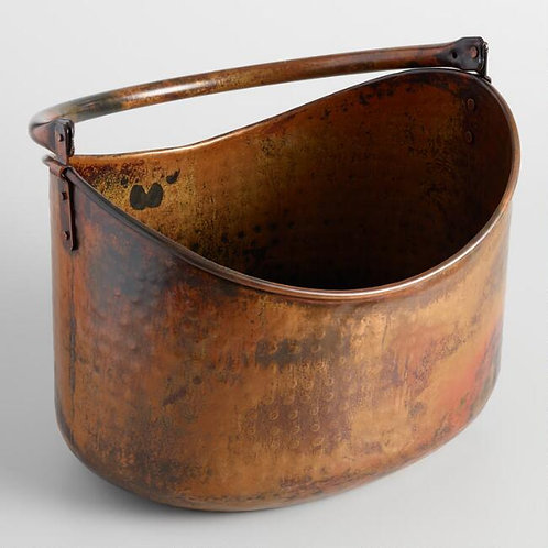 Hammered Copper Bucket