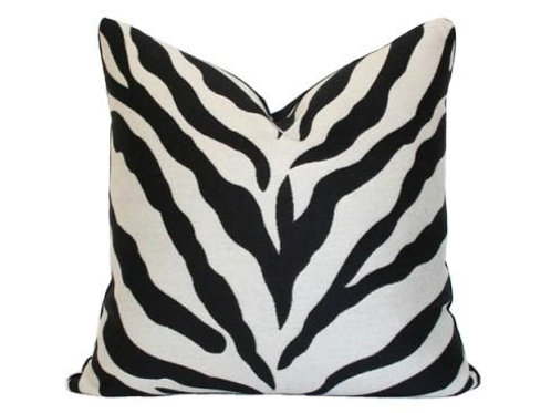 Velvet Zebra Print Pillow