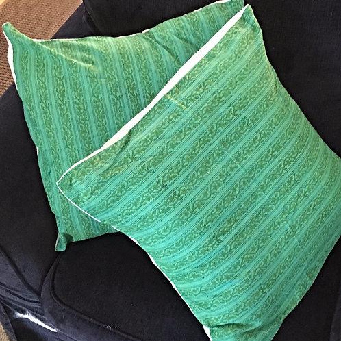 Green India Print Down Pillows