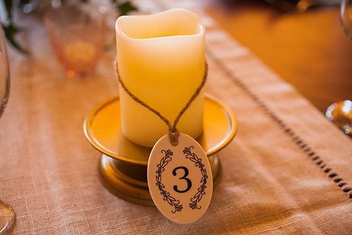 Ceramic Table Number With Jute