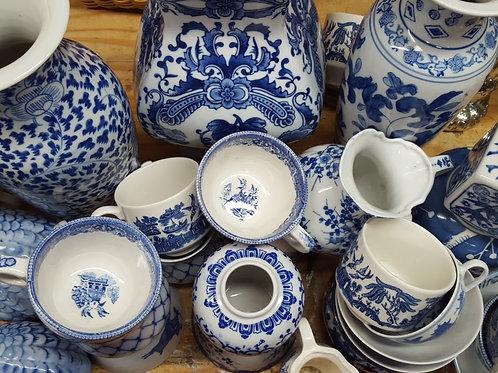 Small Blue & White Vases