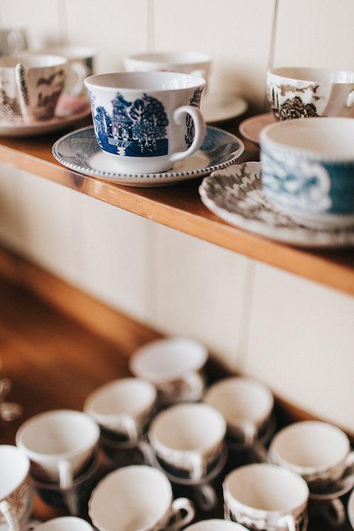 Vintage Tea Cups + Saucers
