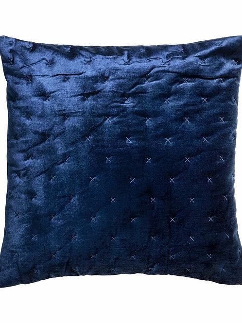 Navy Blue Velvet Pintuck Pillow