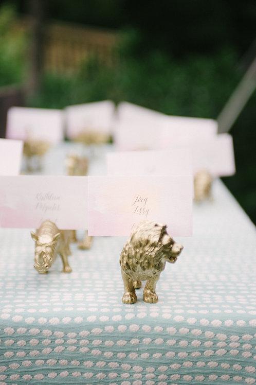 Gold Safari Animal Place Card Holder