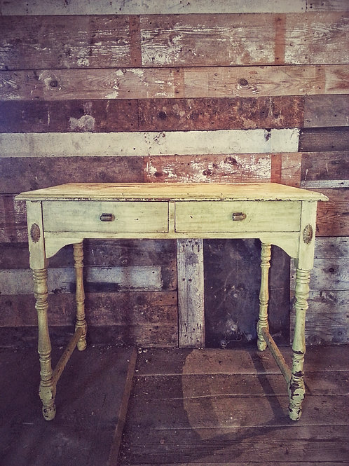 Yellow Two Drawer Desk