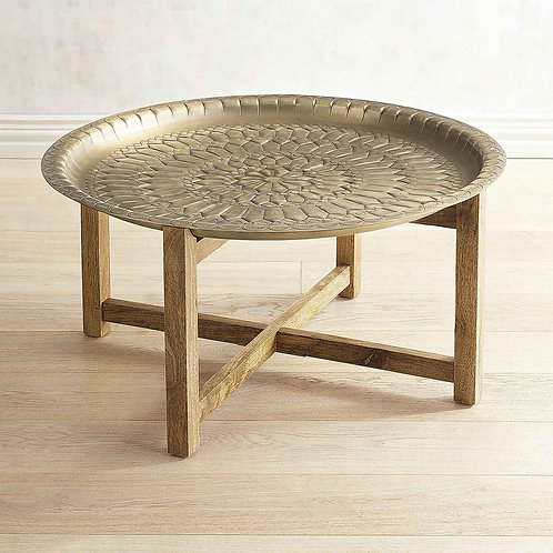 Brass Moroccan Tray Table