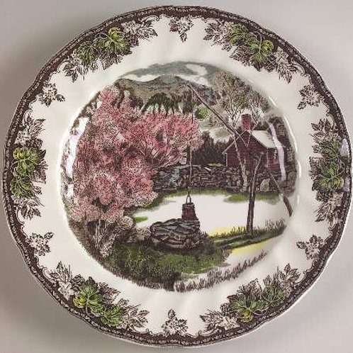 Friendly Village Assorted China Plates
